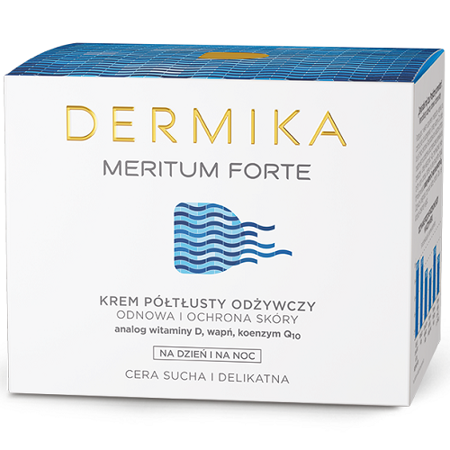 DERMIKA MERITUM FORTE, KREM PÓŁTŁUSTY, 50 ML.