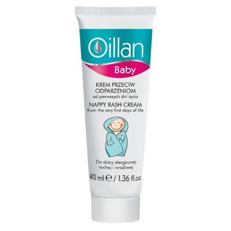 Oillan - Baby - KREM przeciw odparzeniom od pierwszych dni życia, 40 ml.