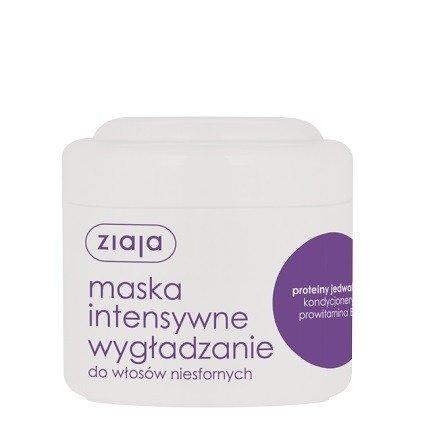 Ziaja - Intensywna pielęgnacja włosów - MASKA wygładzająca do włosów niesfornych z jedwabiem, 200 ml.