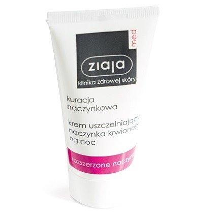 Ziaja MED - Kuracja naczynkowa - KREM uszczelniający naczynka krwionośne na NOC, 50 ml.