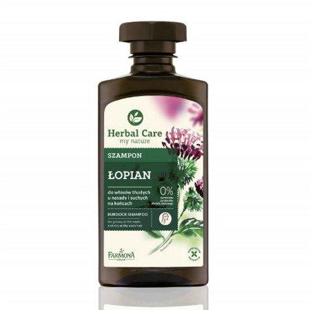 Herbal Care - szampon łopianowy do włosów tłustych i z tendencją do łupieżu, 330 ml.