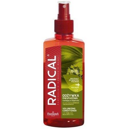 Radical - ODŻYWKA/MGIEŁKA wzmacniająco regenerująca do włosów cienkich i delikatnych, 200 ml.(zielona)