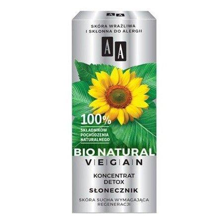 AA Bio Natural Vegan, KONCENTRAT detox słonecznik, 15 ml.