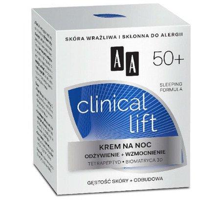 AA - Clinical Lift 50+ - KREM odżywczo wzmacniający na NOC, 50 ml.