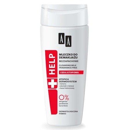 AA - HELP Cera atopowa - bezzapachowe MLECZKO do demakijażu 200 ml.