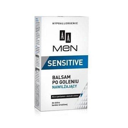 AA - MEN Sensitive - BALSAM po goleniu nawilżający do skóry wrażliwej, 100 ml.