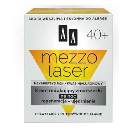 AA - Mezzolaser 40+ - KREMregenerująco-ujędrniającyi na NOC, 50 ml.