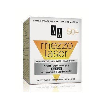 AA - Mezzolaser 50+ - KREM regenerujący, odżywiający i ujędrniający na NOC, 50 ml.