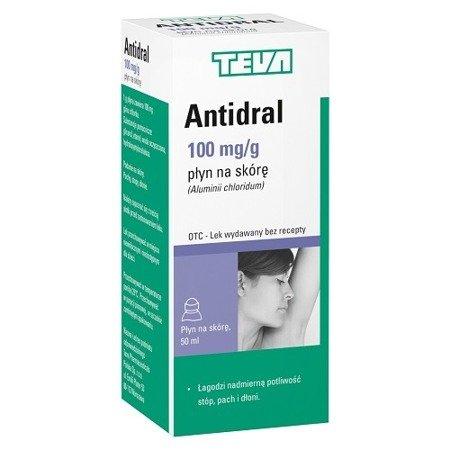Antidral - antyperspirant, regulator pocenia, 50 ml.