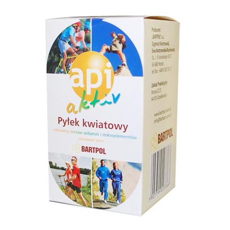 Api Aktiv, Pyłek Kwiatowy, 90 tabletek.