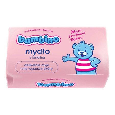 Bambino - MYDŁO pielęgnacyjne w kostce dla niemowląt i dzieci z Lanoliną 90 g.