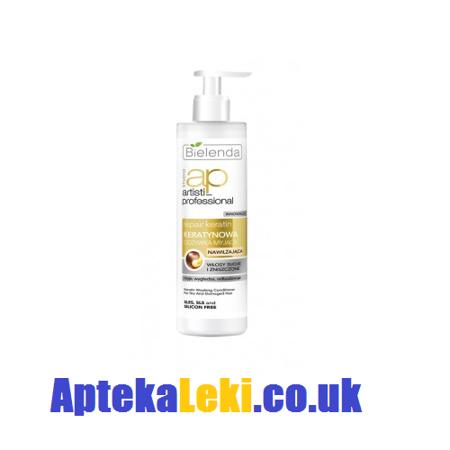 Bielenda - Artisti Professional - Repair Keratin - Keratynowa ODŻYWKA myjąca do włosów suchych i zniszczonych 250 ml.