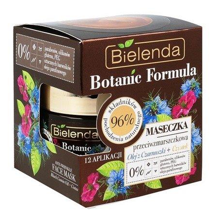 Bielenda Botanic Formula, Olej z Czarnuszki+Czystek, MASECZKA przeciwzmarszczkowa, 50 ml.