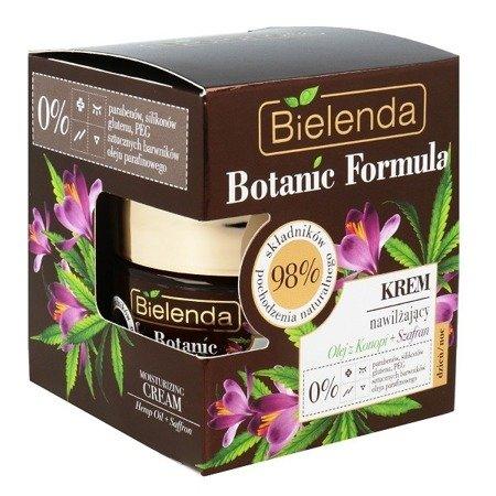 Bielenda Botanic Formula, Olej z Konopi i Szafran, KREM nawilżający, 50 ml.