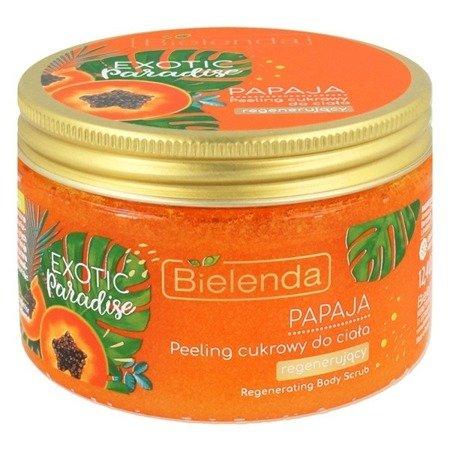 Bielenda Exotic Paradise, PEELING cukrowy Papaja, 350 g.