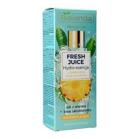 Bielenda Fresh Juice, ESENCJA rozświetlająca, ananasowa, 110 ml.