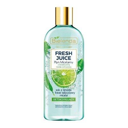 Bielenda Fresh Juice, PŁYN micelarny, limonkowy 500 ml.