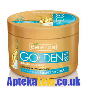 Bielenda - Golden Oils - PEELING do ciała, ultra nawilżający, 200 g.