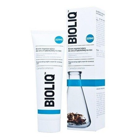 Bioliq Dermo - KREM regenerujący do cery trądzikowej na NOC, 50 ml.