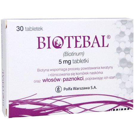 Biotebal 5 mg. 30 tabletek.