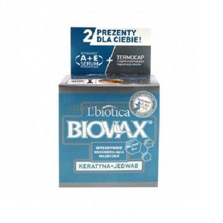 Biovax - MASKA intensywnie regenerująca Keratyna + Jedwab do każdego rodzaju włosów.(maseczka) Opakowanie 500 ml.