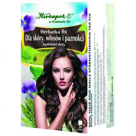 Dla skóry, włosów i paznokci - Herbatka Fix, 20 saszetek. (Herbapol Kraków)