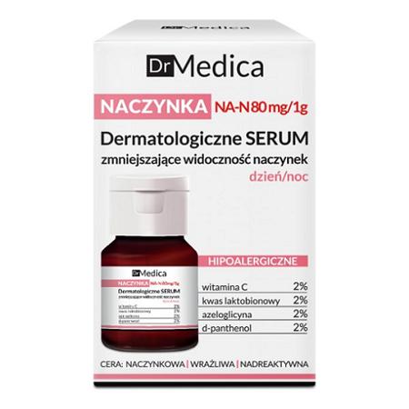 Dr Medica - NACZYNKA - Dermatologicze SERUM zmniejszające widoczność naczynek, dzień/noc, 30 ml. Bielenda