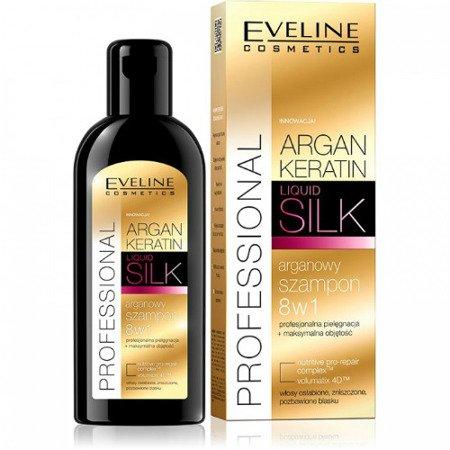 Eveline - Argan Keratin Professional - SZAMPON arganowy 8w1 do włosów osłabionych i zniszczonych, 150 ml.
