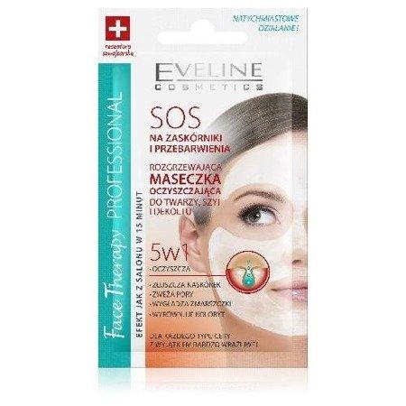 Eveline - Face Therapy Professional - MASECZKA oczyszczająca, rozgrzewająca do twarzy, szyi i dekoltu SOS 5w1, 7 ml.