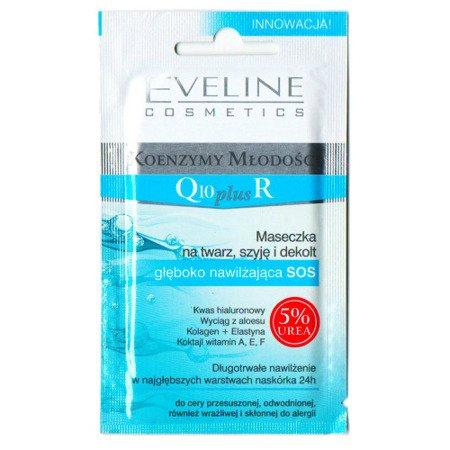 Eveline - Koenzym Młodości Q10+R, samowchłaniająca maseczka głęboko nawilżająca, 7 ml.
