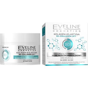 Eveline - Kolagen & Elastyna - KREM półtłusty silnie przeciwzmarszczkowy, 50 ml.