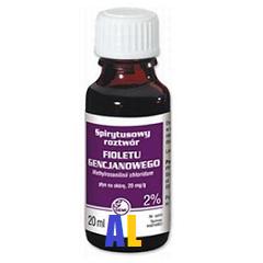 Fiolet gencjanowy - ROZTWÓR spirytusowy 2%, 15 ml.