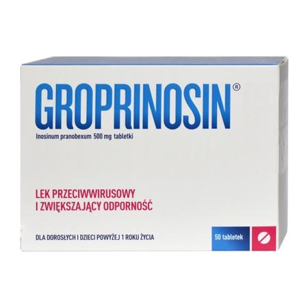 Groprinosin 500 mg. 50 tabletek. (Neosine)