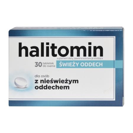 Halitomin - Świeży oddech przez cały dzień, 30 tabletek do ssania.