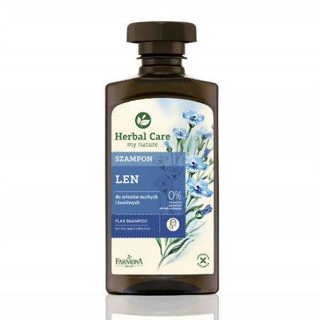 Herbal Care - szampon lniany do włosów suchych i łamliwych, 330 ml.