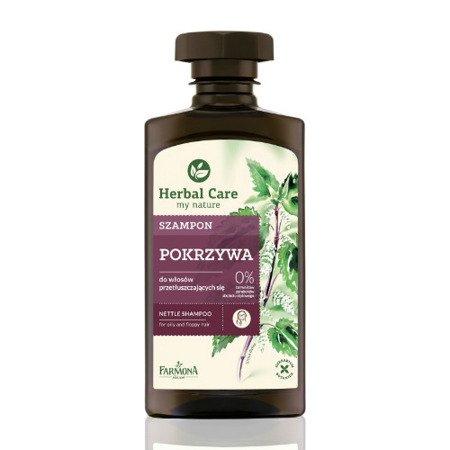 Herbal Care - szampon pokrzywowy do włosów przetłuszczających się i pozbawionych lekkości, 330 ml.