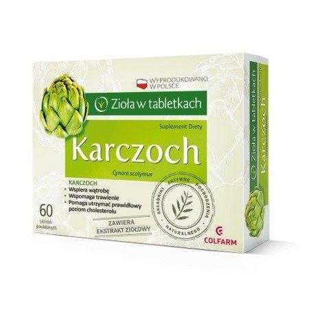 Karczoch - zioła w tabletkach, 60 kapsułek. (Colfarm)