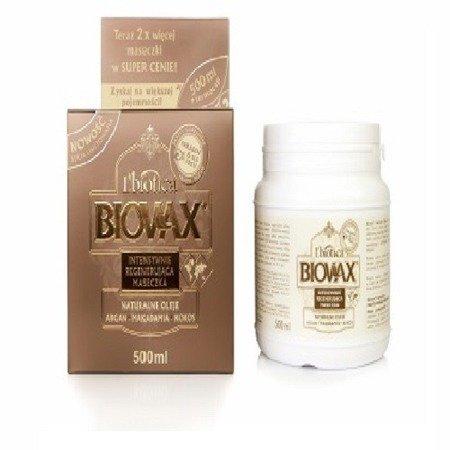 MASKA do włosów z olejem Arganowym, Makadamia i Kokosowym, 500 ml. (Biovax)