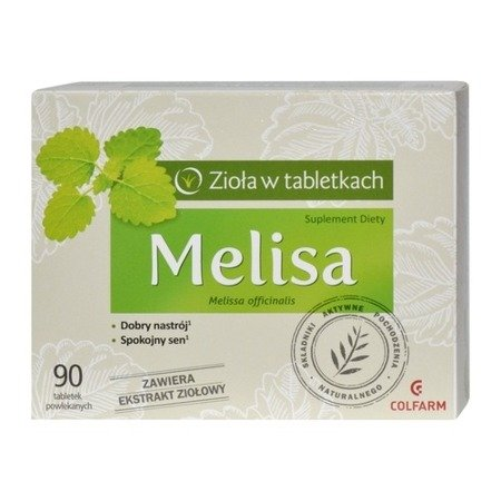Melisa - ZIOŁA w tabletkach, 90 tabletek.(Colfarm)