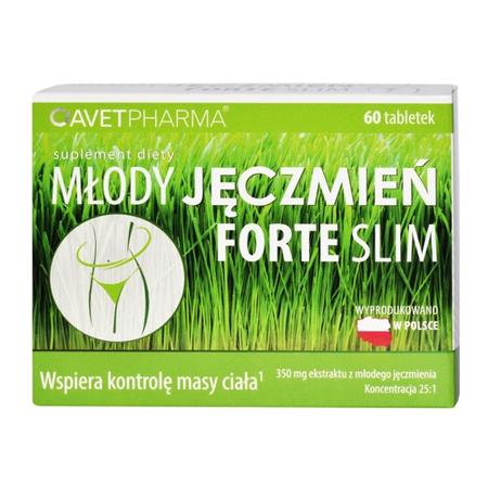 Młody jęczmień FORTE Slim, 60 tabletek.