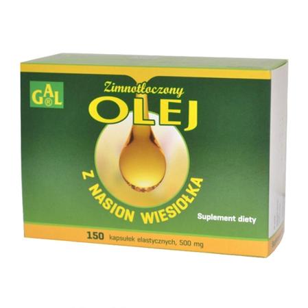 Olej z nasion wiesiołka - tłoczony na zimno, 150 kapsułek.(Gal)