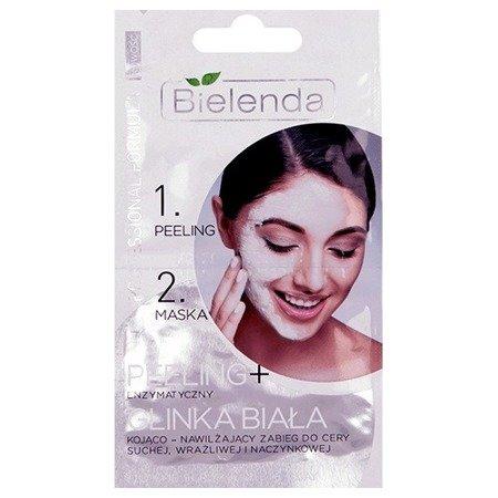 Professional Formula - MASECZKA + PEELING enzymatyczny z glinką białą do cery suchej, wrażliwej i naczynkowej, 2x5 g.