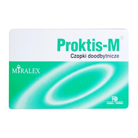 Proktis-M - CZOPKI doodbytnicze, 10 sztuk.