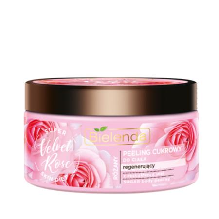 SUPER SKIN DIET Velvet Rose Regenerujący peeling cukrowy do ciała Róża 350 g