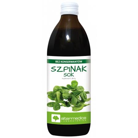 Szpinak - SOK ze szpinaku, 500 ml. Alter Medica