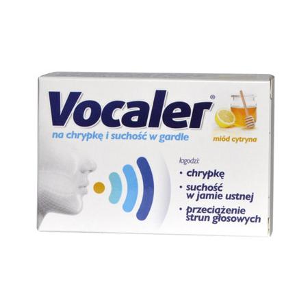 Vocaler - Miód Cytryna, 24 pastylek do ssania.