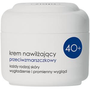 Ziaja - 40 Plus – KREM nawilżający, przeciwzmarszczkowy do każdego rodzaju skóry, 50 ml.