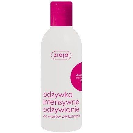 Ziaja - Intensywna pielęgnacja włosów - ODŻYWKA bez spłukiwania z witaminami A, E, F, intensywnie regeneruje, wzmacnia i nawilża, 200 ml.