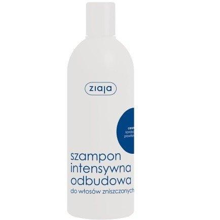 Ziaja - Intensywna pielęgnacja włosów - SZAMPON odbudowujący z ceramidami do włosów zniszczonych, 400 ml.