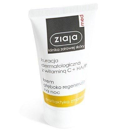 Ziaja MED - Kuracja dermatologiczna z witaminą C - KREM głęboko regenerujący na NOC, 30 ml.